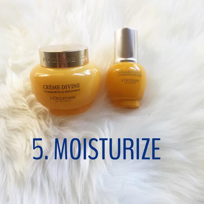 skincare moisturize
