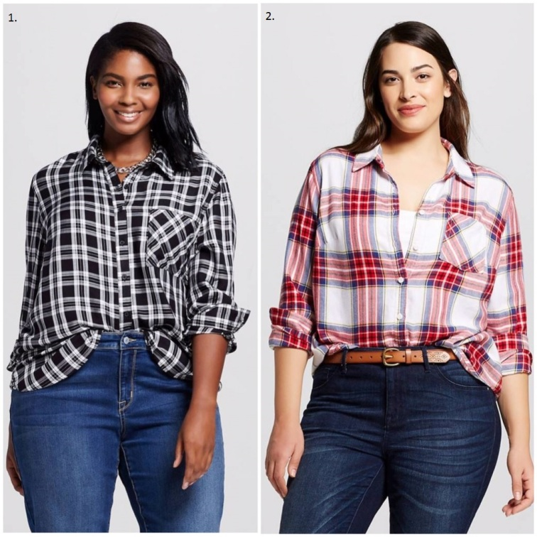 Target Womens Plaid Shirts